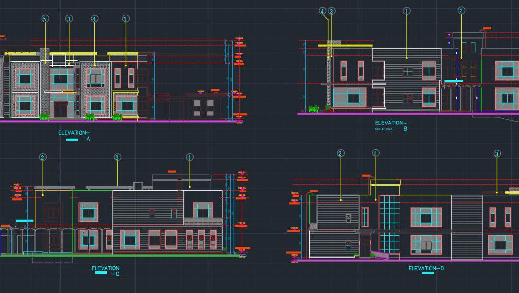 modern villa cad files dwg files plans and details. Black Bedroom Furniture Sets. Home Design Ideas