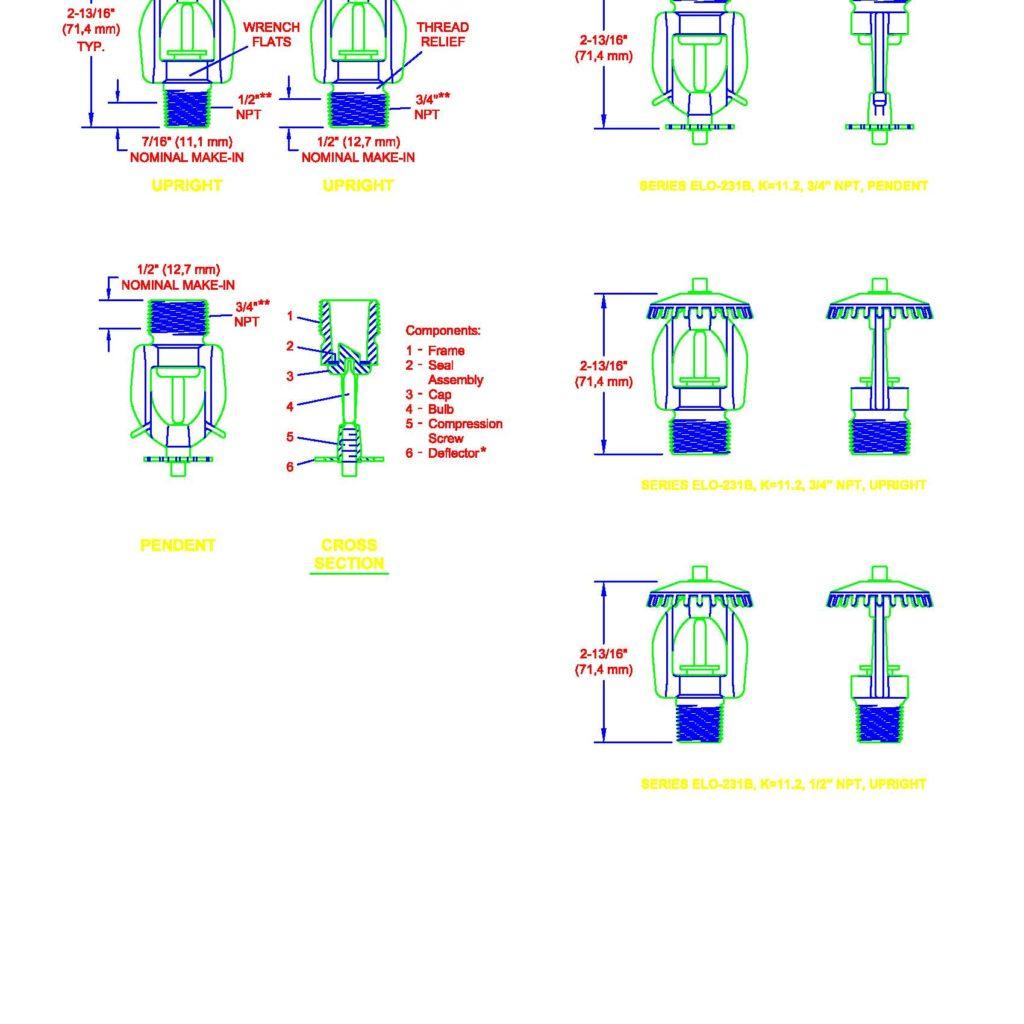 Sprinkler System 2D Starter Pack - CAD Files, DWG files, Plans and Details