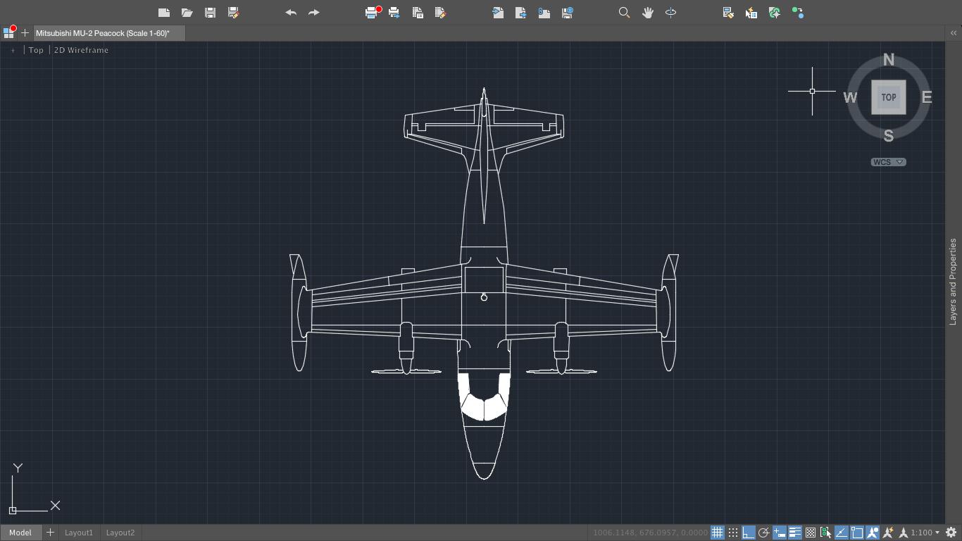 [SODI_2457]   Mitsubishi MU-2 Peacock Aircraft - CAD Files, DWG files, Plans and Details | Mitsubishi Mu 2 Schematic |  | PlanMarketplace