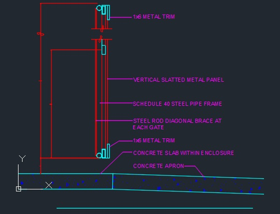 Trash Enclosure Construction Set Cad Files Dwg Files