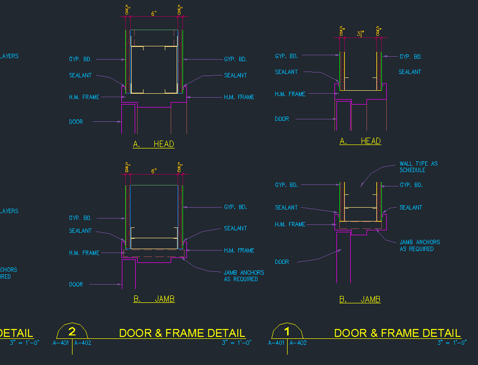 Door Head Jamb Frame Details Cad Files Dwg Files