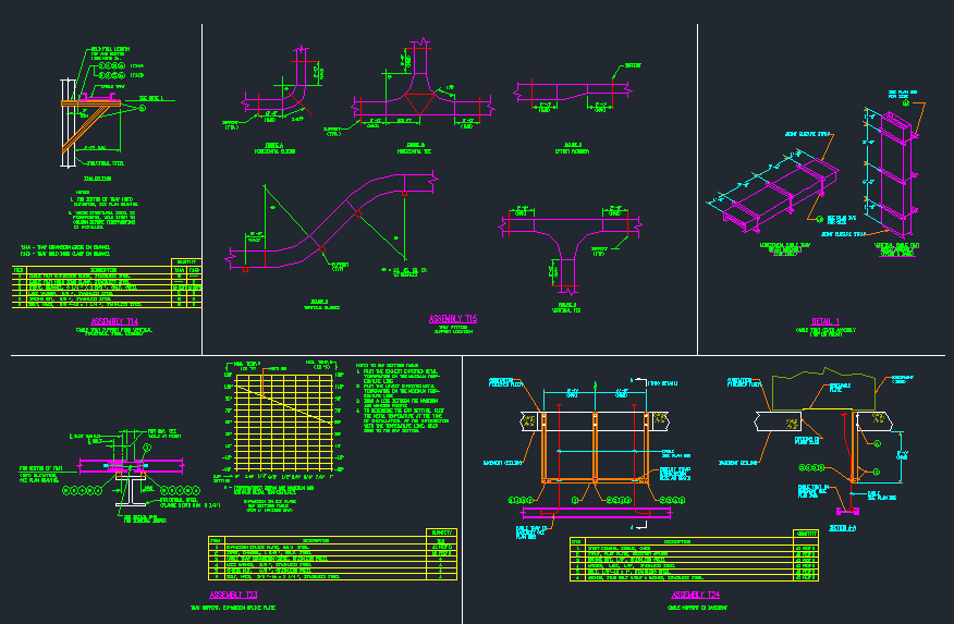 Electrical Cable Tray Installation Details Cad Files