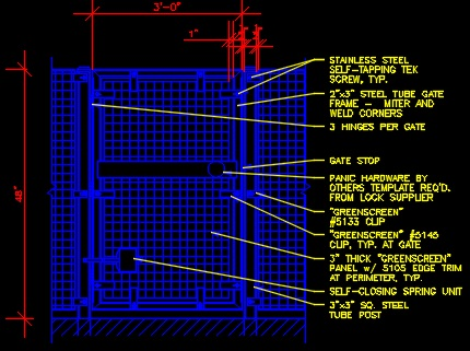 Screen Wall Amp Gate Detail Cad Files Dwg Files Plans