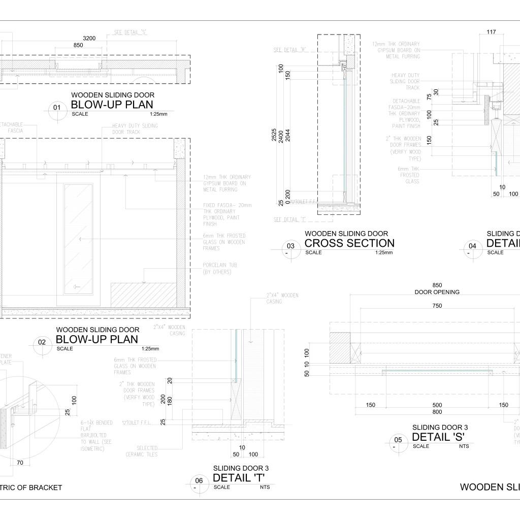 Wooden sliding door detail cad files dwg files plans for Sliding glass doors cad