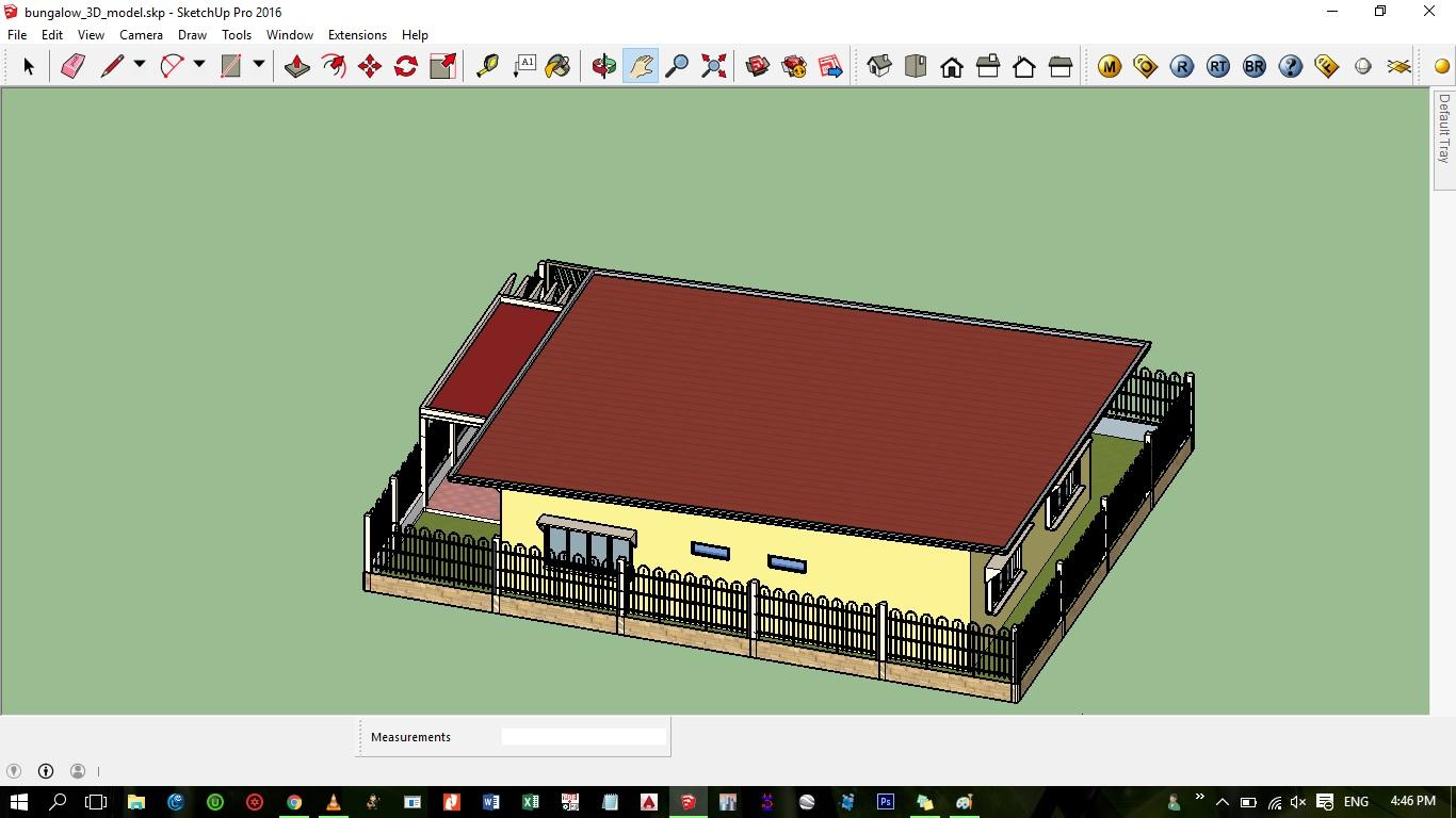 Flat Roof Modern Zen House Design Sketchup Model Cad Files Dwg Files Plans And Details