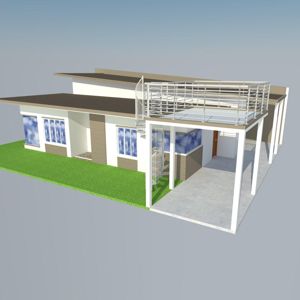 Modern Zen House Design: Bungalow Modern Zen House Design (Structural Plan