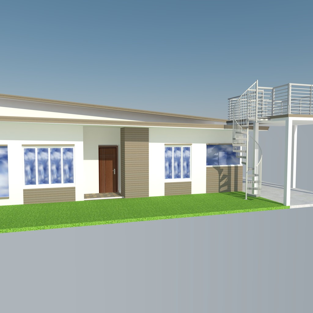 Home Design Software Sketchup: Bungalow Modern Zen House Design (SketchUp Model)
