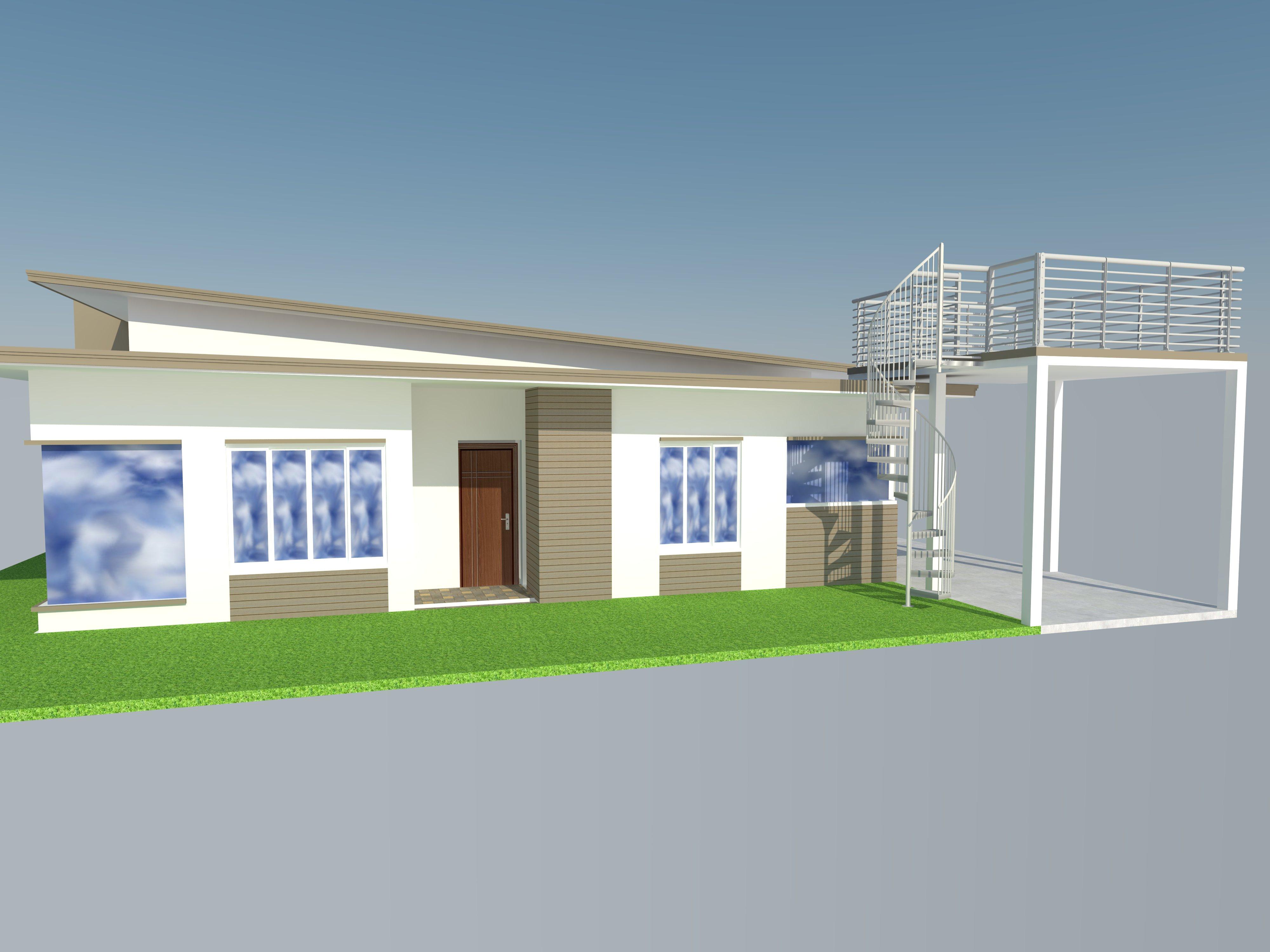 Bungalow Modern Zen House Design SketchUp Model CAD