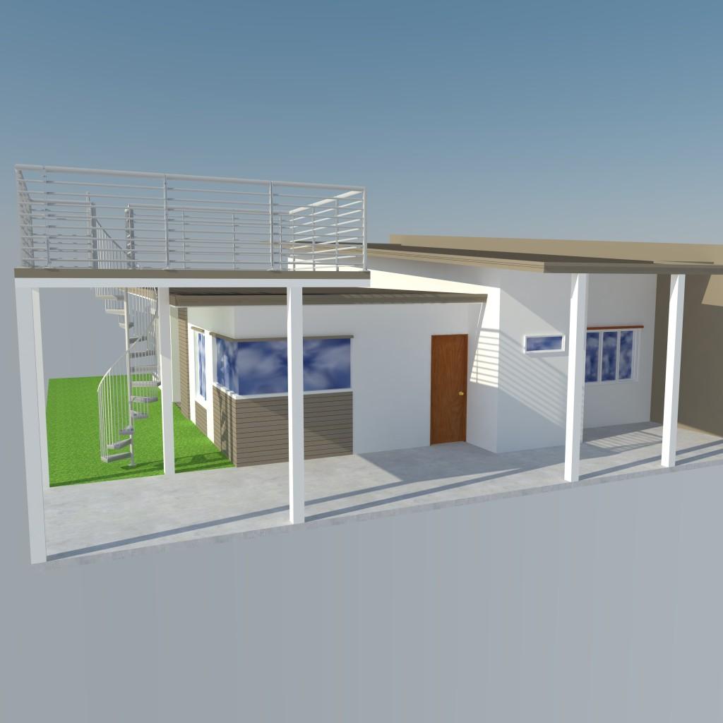 Sketchup Home Design: Bungalow Modern Zen House Design (SketchUp Model)