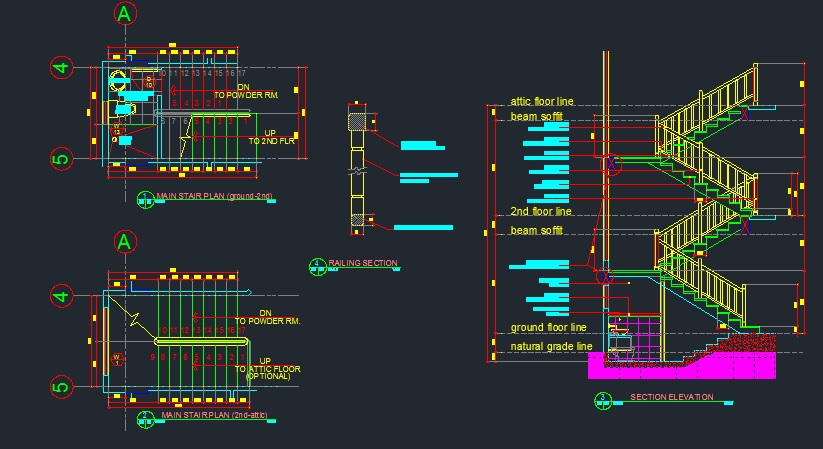 stair details - CAD Files, DWG files, Plans and Details