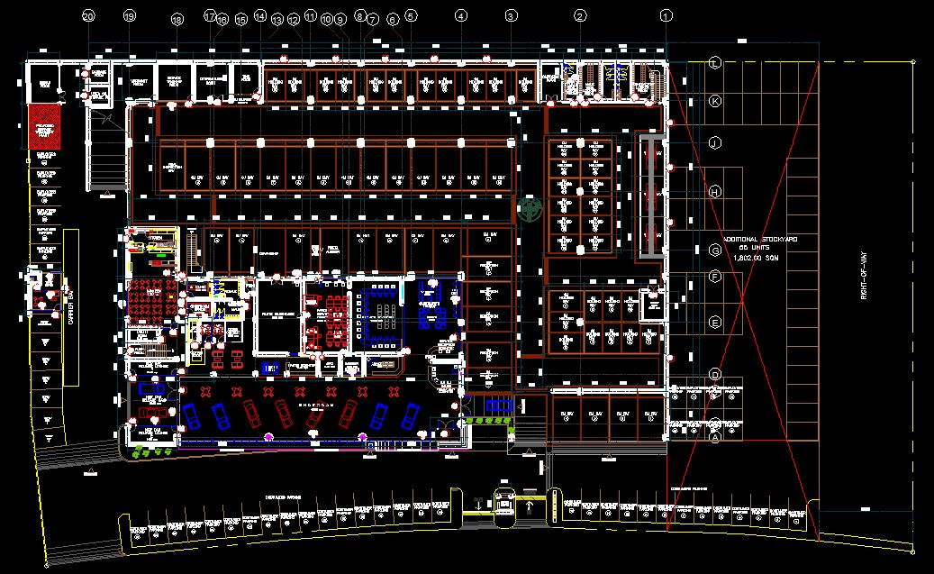 Car showroom design cad files dwg files plans and details for Car plan cad