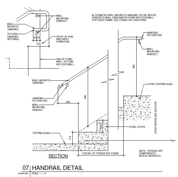 Handrail Detail - CAD Files, DWG files, Plans and Details