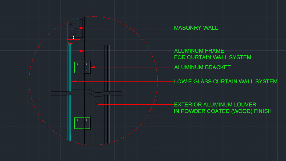 Wall Detail Plus Curtain Wall Detail Cad Files Dwg Files Plans