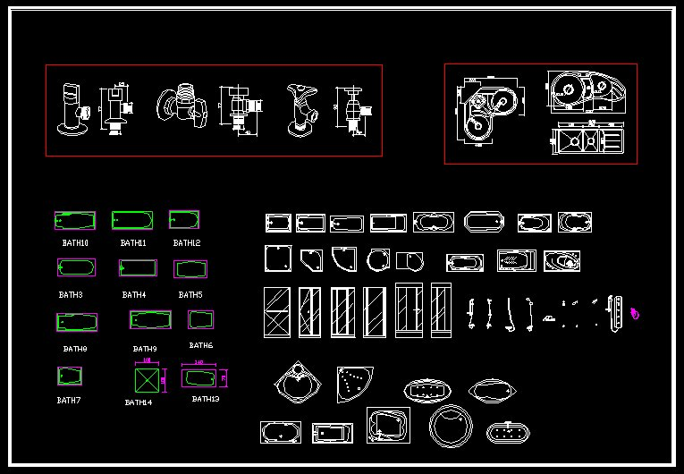 ★【Bathroom Blocks Bundle】★ - CAD Files, DWG files, Plans and Details