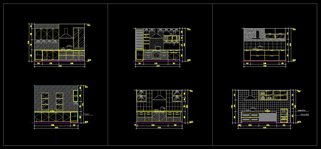 Kitchen Cabinet Cad Files