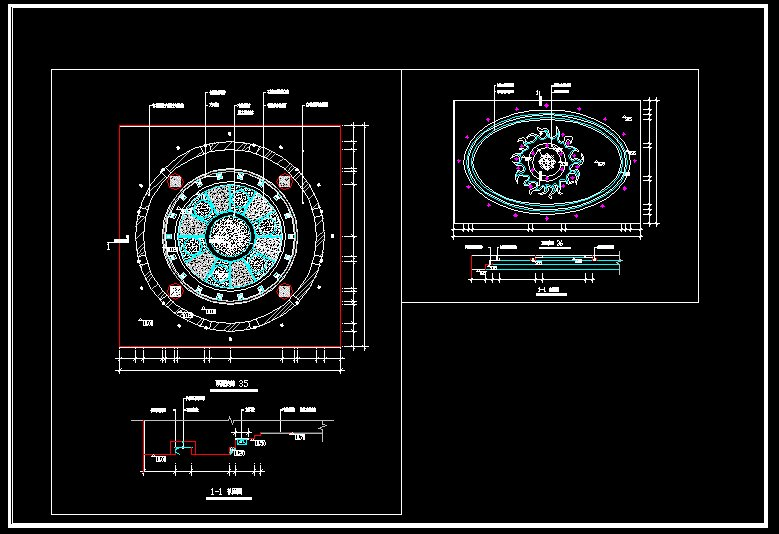 Ceiling Design Template CAD Files DWG Plans