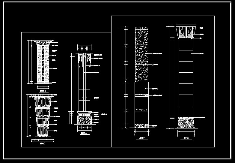 Column Design Drawing】★ Cad Files Dwg Files Plans And