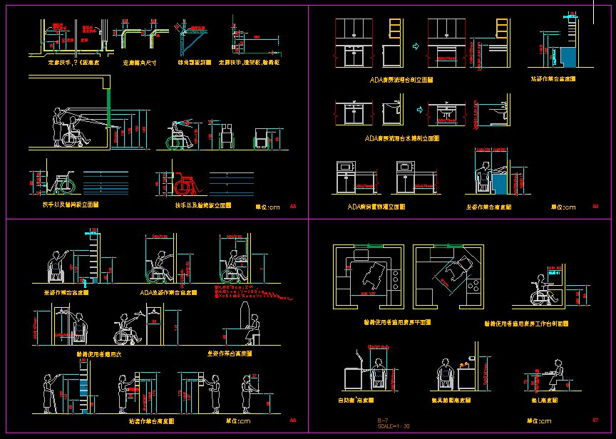 Handicap Facilities Cad Files Dwg Files Plans And Details