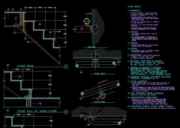Stair Details】★ Cad Files Dwg Files Plans And Details