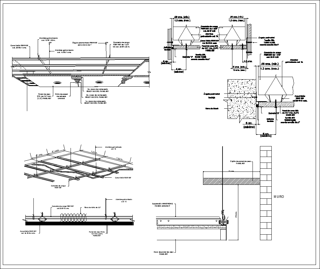 Ceiling Details V2】★ Cad Files Dwg Files Plans And Details