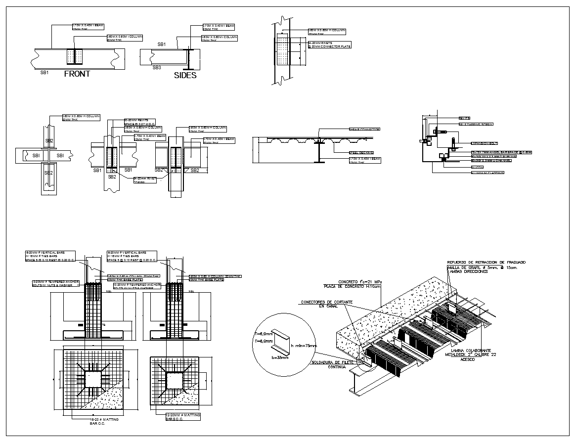 Steel Structure Details V2 Cad Files Dwg Files Plans And