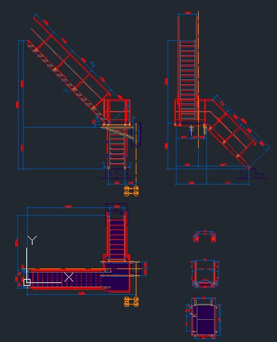 Steel Stairs - CAD Files, DWG files, Plans and Details