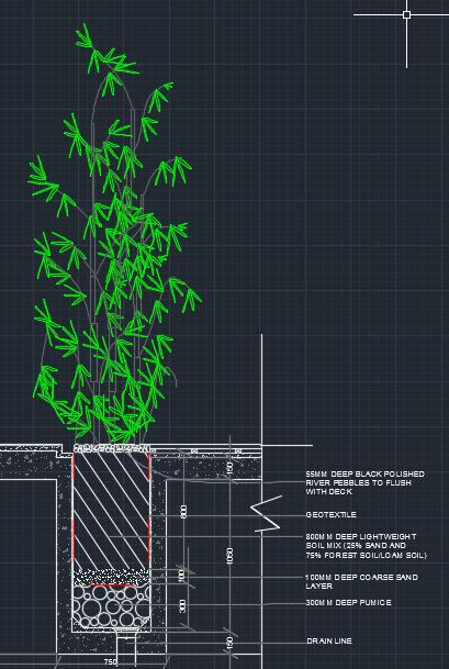 Roof Top Planter Detailed Section Cad Files Dwg Files