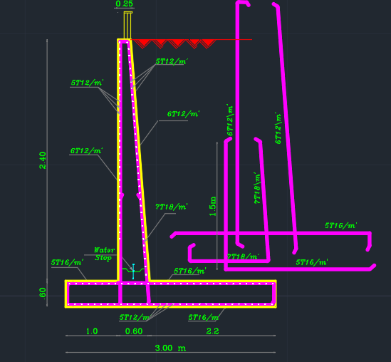 Retaining Wall Reinforcement Detailing Cad Files Dwg