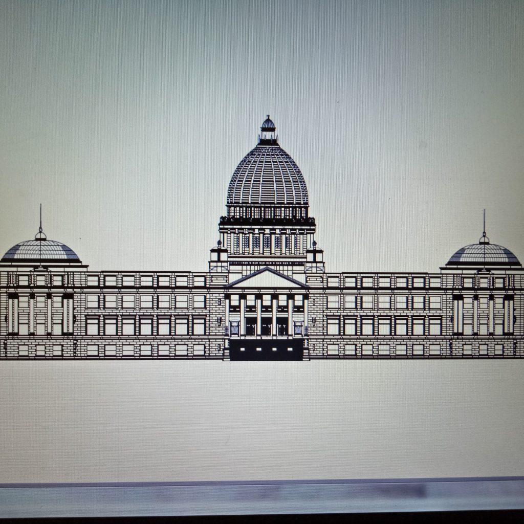2d Front Elevation Drawing : White house d front elevatiom cad files dwg