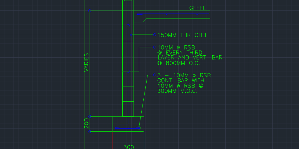 Wall Footing Section Cad Files Dwg Files Plans And Details