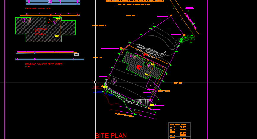 3 bed 2 storey town house site drainage plan - CAD Files, DWG files, Plans  and Details