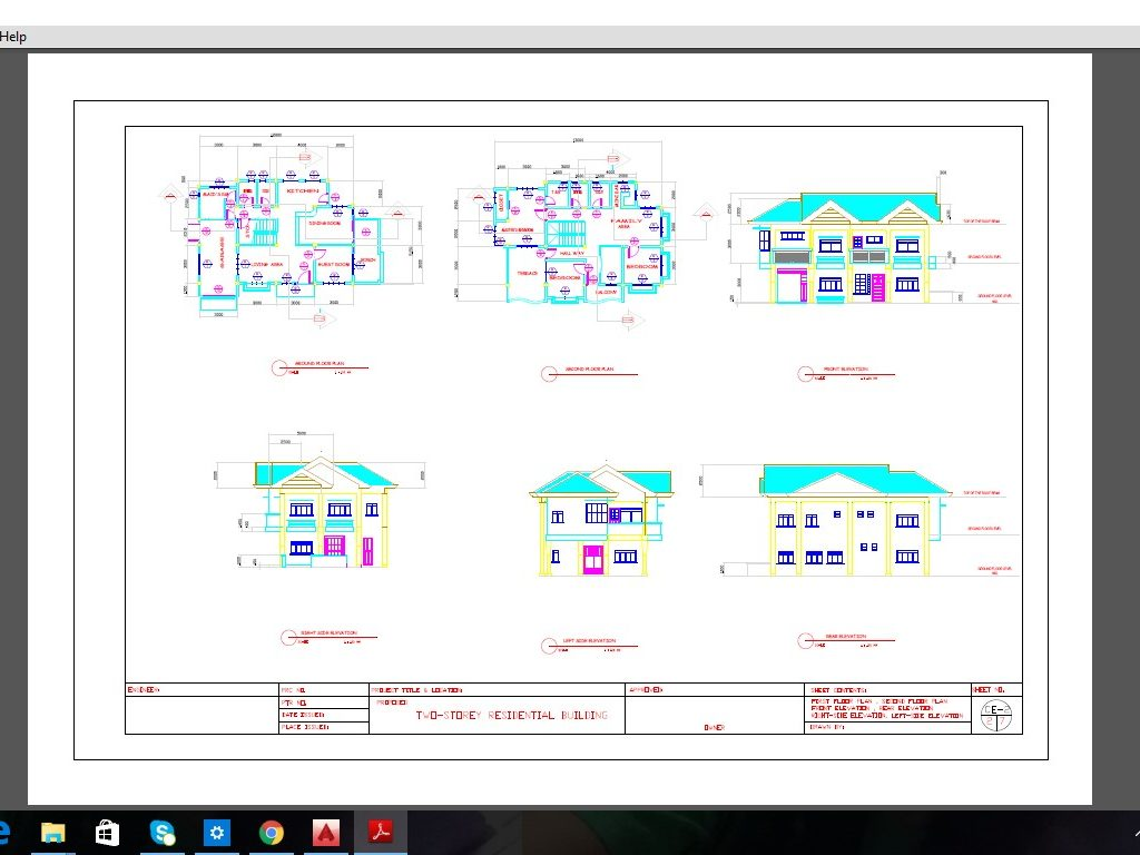 Two Storey Residential Building Plan