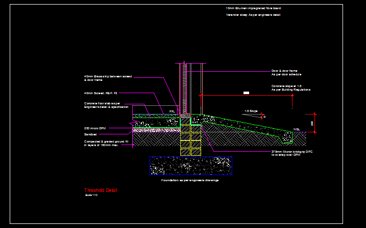 threshold detail cad files dwg files plans  details