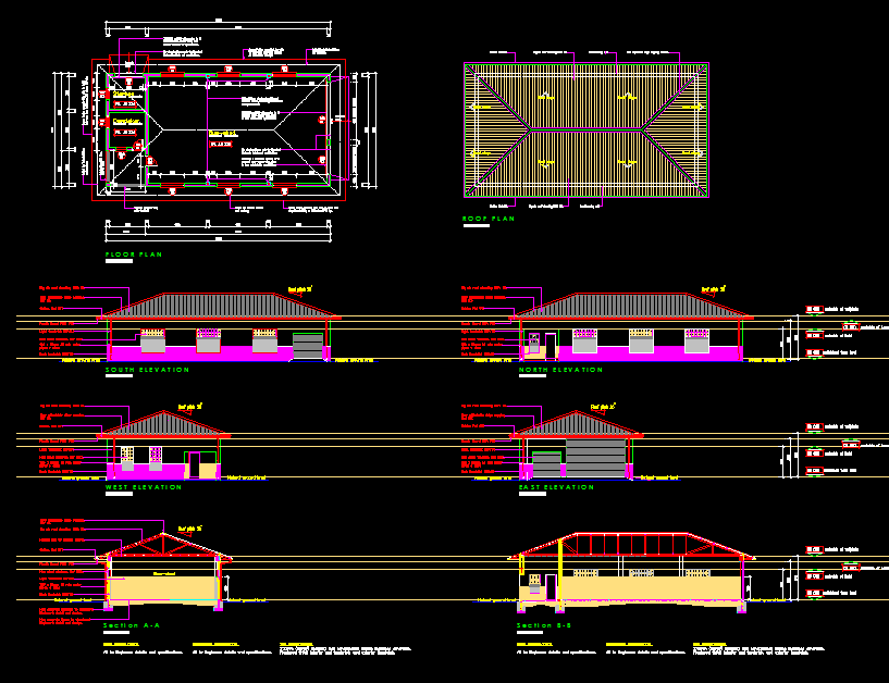 School Bus Shed Cad Files Dwg Files Plans And Details