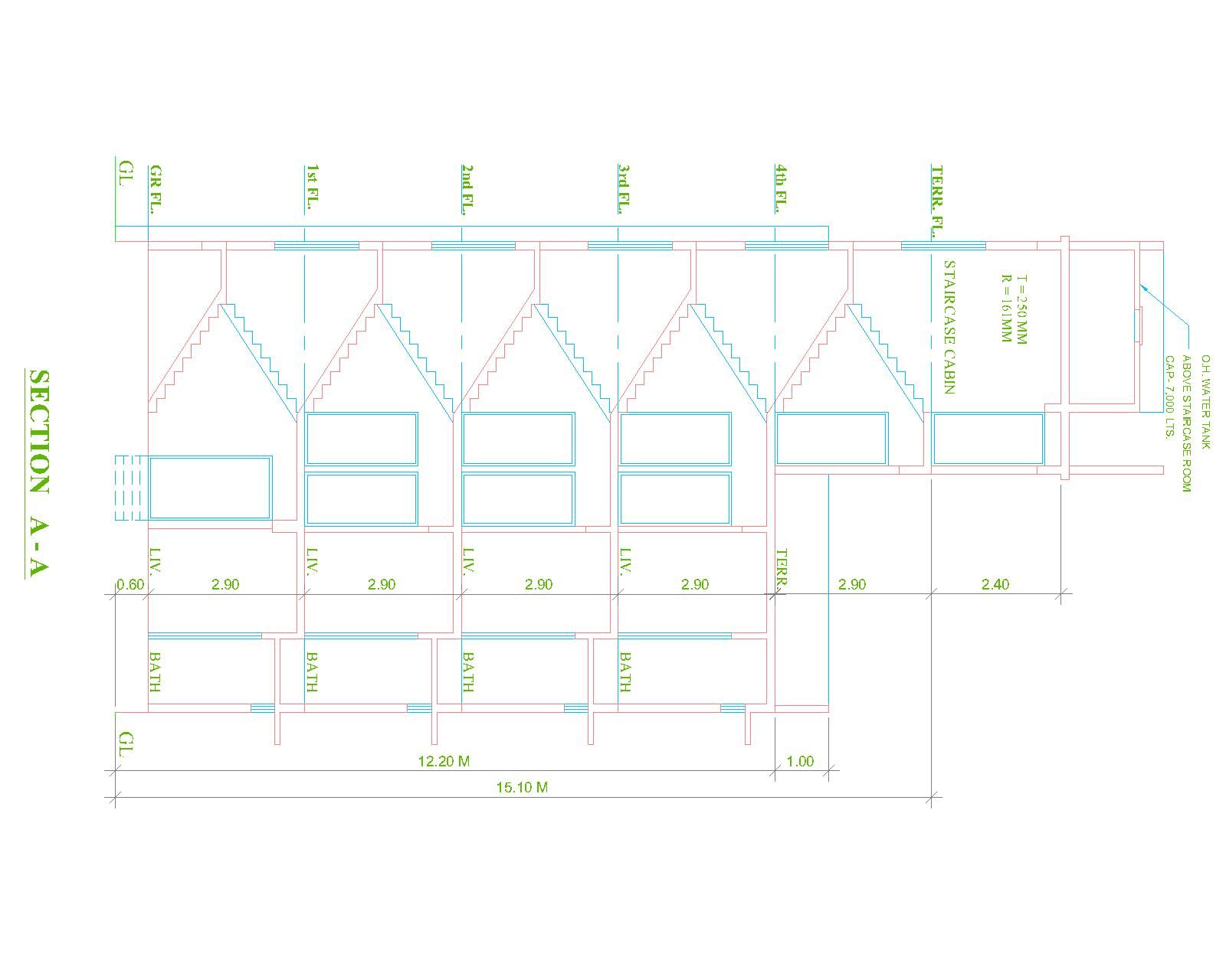 4th Floor Building Design Detail Drawing Cad Files Dwg