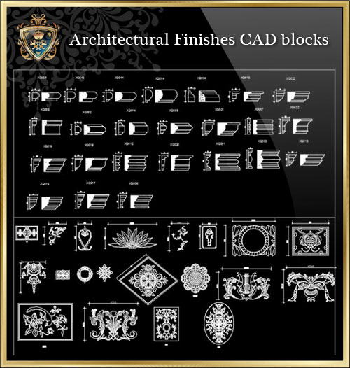 Architectural Finishes Cad Blocks】★ Cad Files Dwg Files