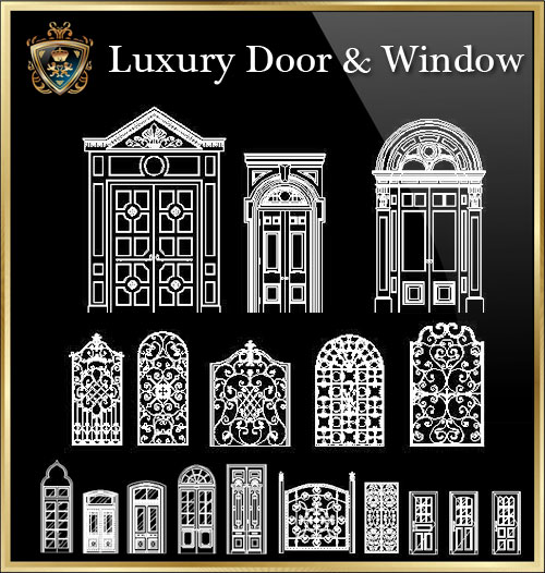Luxury Door Amp Window】★ Cad Files Dwg Files Plans And