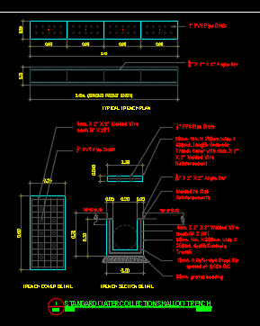 Shallow Trench Detail Cad Files Dwg Files Plans And