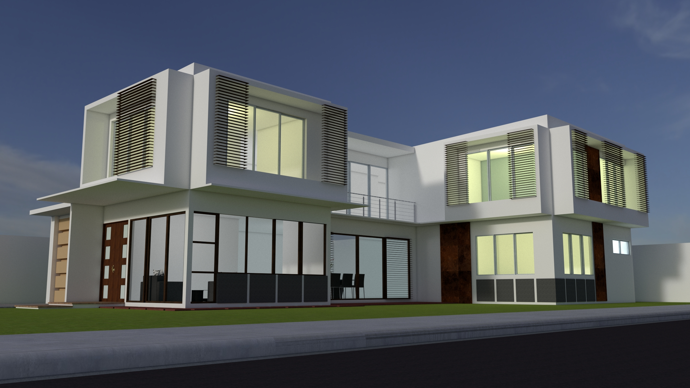 Modern contemporary residential building design